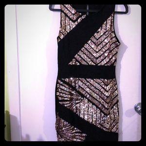 NWOT Black/Rose Gold Sequin Dress
